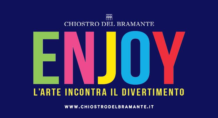 """In Mostra a Roma l'arte contemporanea del XX secolo. Dopo il successo di """"Love"""", il Chiostro del Bramante presenta """"Enjoy. L'arte incontra il divertimento""""."""