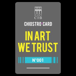 """Chiostro Card """"In Art We Trust"""" per operatori culturali, guide e storici dell'arte."""